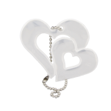 Reflector Pair of Hearts White