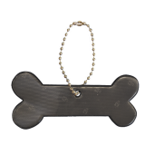 Reflector Dog bone black, Karin Mannerstal
