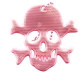 Reflector Jolly Roger pink