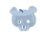 Reflector Teddy light blue
