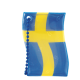 Reflector Swedish flag