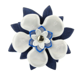 Reflector Brooch white/blue