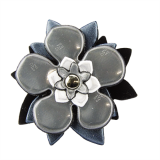 Reflector Brooch Black