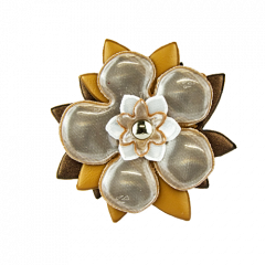 Reflector Brooch Brown