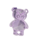 Reflector Teddybear light purple