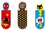 Magnetic Bookmark Superheroes