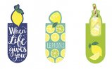Magnetic Bookmark Lemon