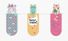 Magnetic Bookmark Love Cats