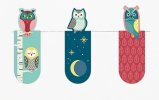 Magnetic Bookmark Owls