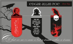 Magnetic Bookmark Edgar Allan Poe