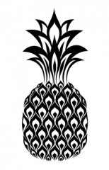 Pineapple Black/White