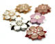 Reflector Brooch White/Maroon