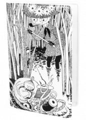 Moomin bl/wh fishing