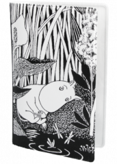 Moomin bl/wh water lilly